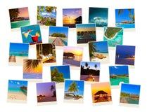 Pila di colpi della spiaggia delle Maldive (le mie foto) Immagini Stock Libere da Diritti