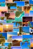 Pila di colpi della spiaggia delle Maldive le mie foto Fotografie Stock Libere da Diritti