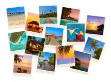 Pila di colpi della spiaggia delle Maldive le mie foto Fotografia Stock Libera da Diritti