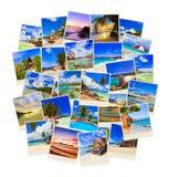 Pila di colpi della spiaggia di estate Immagine Stock