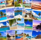 Pila di colpi della spiaggia di estate Fotografia Stock