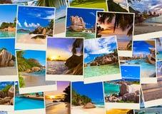 Pila di colpi della spiaggia di estate Fotografia Stock Libera da Diritti