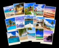 Pila di colpi della spiaggia di estate Fotografie Stock