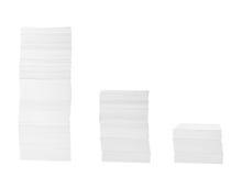 Pila di commercio dell'ufficio dei documenti di documenti Fotografia Stock Libera da Diritti