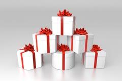 Pila di contenitori di regalo Fotografia Stock Libera da Diritti