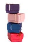 Pila di contenitori di regalo Immagini Stock