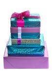 Pila di contenitori di regalo Fotografie Stock