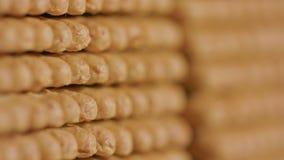 Pila di cracker video d archivio