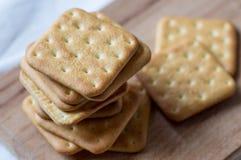 Pila di cracker dei biscotti Immagine Stock Libera da Diritti