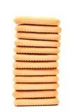 Pila di cracker di soda del saltine Fotografie Stock