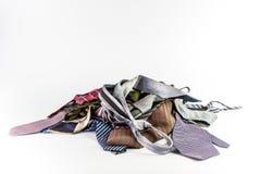 Pila di cravatte Immagine Stock Libera da Diritti