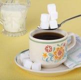 Pila di cubi dello zucchero Immagine Stock Libera da Diritti
