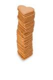 Pila di cuori del pan di zenzero Immagini Stock