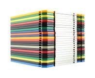 Pila di dischetti del calcolatore Fotografie Stock