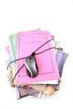 Pila di dispositivi di piegatura con il mouse Fotografia Stock Libera da Diritti