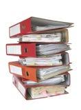 Pila di dispositivi di piegatura di archivio Immagine Stock