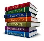 Pila di dizionari Fotografie Stock Libere da Diritti