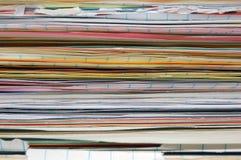 Pila di documenti Immagini Stock Libere da Diritti