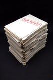 Pila di documenti segreti Immagini Stock