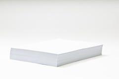 Pila di documento in bianco Immagini Stock Libere da Diritti