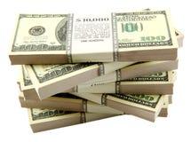 Pila di dollari Immagine Stock Libera da Diritti