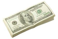 Pila di dollari Fotografia Stock