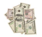 Pila di dollari americani Immagini Stock Libere da Diritti