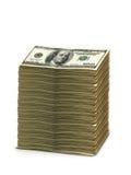 Pila di dollari americani isolati immagini stock