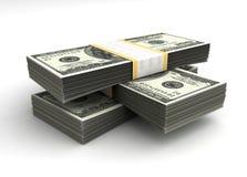 Pila di dollaro Fotografie Stock Libere da Diritti