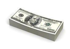 Pila di dollaro Fotografia Stock Libera da Diritti