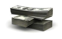 Pila di dollaro Fotografie Stock