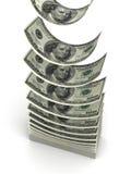 Pila di dollaro Immagini Stock Libere da Diritti