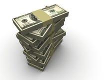 Pila di dollaro Immagini Stock