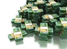 Pila di dollaro australiano Fotografia Stock Libera da Diritti