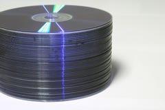 Pila di DVD Fotografie Stock