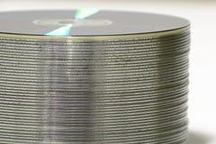 Pila di DVD fotografie stock libere da diritti