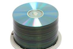 Pila di DVD Immagine Stock