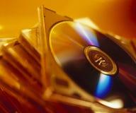 Pila di DVD Fotografia Stock Libera da Diritti