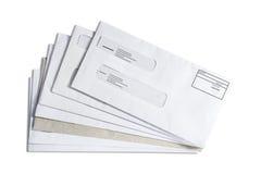 Pila di Enveloppe immagini stock libere da diritti