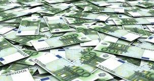 Pila di euro illustrazione di stock