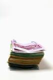 Pila di euro banconote Fotografie Stock