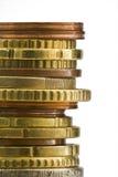Pila di euro monete a macroistruzione Immagine Stock Libera da Diritti