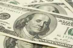 Pila di fattura del dollaro Fotografia Stock