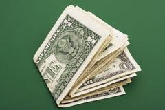 Pila di fatture del dollaro Fotografie Stock