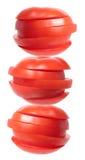 Pila di fette del pomodoro Fotografia Stock