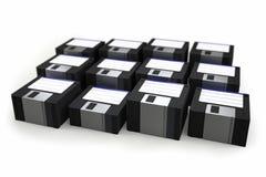 Pila di floppy disk Immagine Stock Libera da Diritti