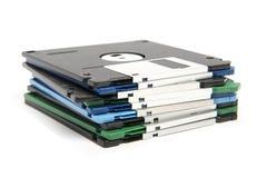 Pila di floppy disk di colore Fotografia Stock