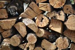 Pila di fondo della legna da ardere Fotografia Stock