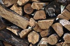 Pila di fondo della legna da ardere Immagine Stock