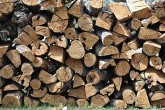Pila di fondo della legna da ardere Fotografia Stock Libera da Diritti